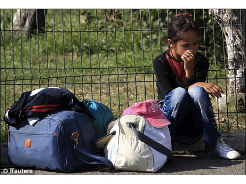 This image is taken from a Reuters article on a displaced Roma family